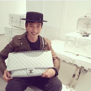 Chanel Silver XXL Flap Bag
