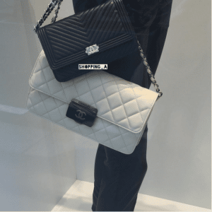 Chanel White Beauty Lock Large Flap Bag