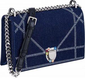 Dior Blue Denim Diorama Flap Bag