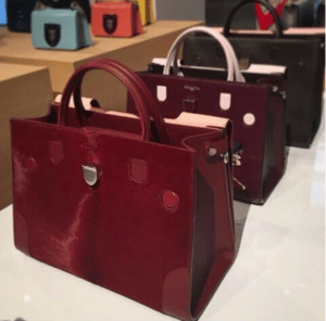 Dior Burgundy Diorever Tote Bags