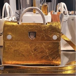 Dior Gold Diorever Tote Bags