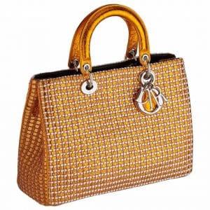 Dior Gold Woven Diorissimo Bag