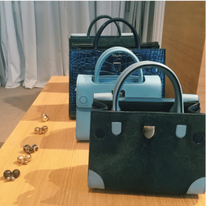 Dior Green and Blue Diorever Tote Bags