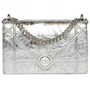 Dior Silver Diorama Flap Bag