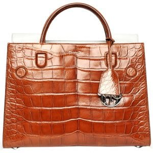 Dior Tan Crocodile Diorever Tote Bag