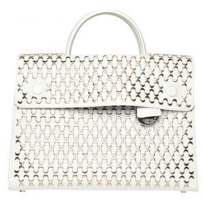 Dior White Embellished Diorever Tote Large Bag