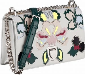 Dior White Multicolor Patchwork Diorama Flap Bag
