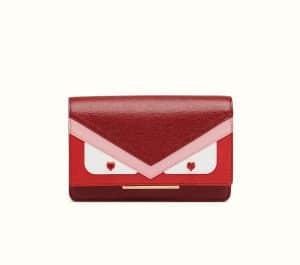 Fendi Dark Red Wallet On Chain Tube Bag