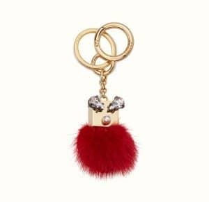 Fendi Red Crystal Bugs Bag Charm