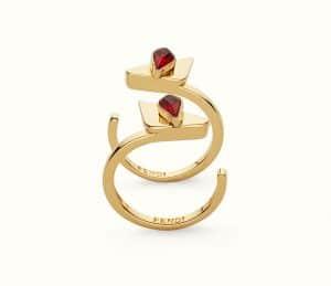 Fendi Red Crystal Wonders Rings