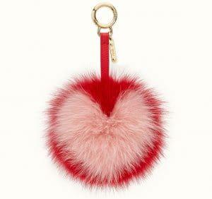 2193703a02977 ... Bag Charm Fendi Red Pon Pon Charm