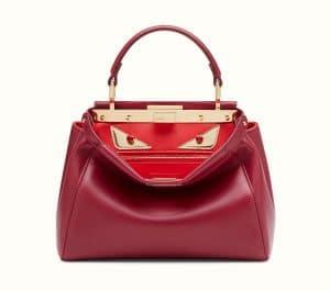 Fendi Soft Cherry Mini Peekaboo Bag