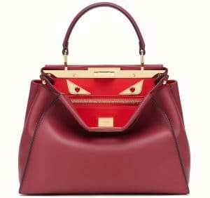 Fendi Soft Cherry Regular Peekaboo Bag