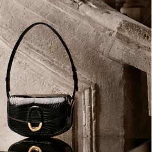 Hermes Black Crocodile Cherche Midi GM Bag