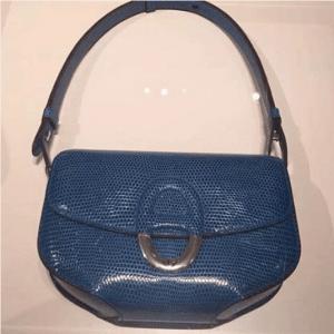 Hermes Blue Lizard Cherche Midi PM Bag