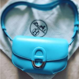Hermes Turquoise Cherche Midi PM Bag