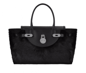 Hill and Friend Liquorice Black Shearling Happy Bag