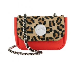 Hill and Friend Red/Natural Leopard Happy Chain Bag