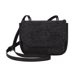 Hill and Friends Black Scratchy Happy Mini Bag