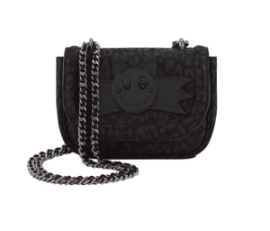 Hill and Friends Black Scratchy Happy Tweency Bag