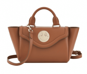 Hill and Friends Dark Toffee Happy Mini Satchel Bag