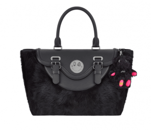 Hill and Friends Liquorice Black Shearling Monster Teddy Bag