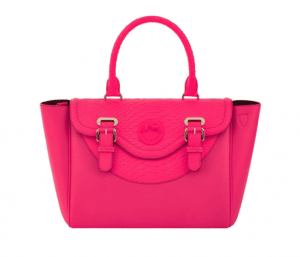 Hill and Friends Pink Happy Satchel Bag