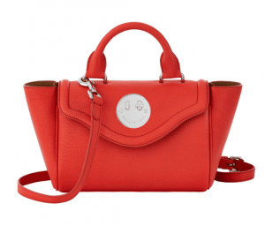 Hill and Friends Red Happy Mini Satchel Bag