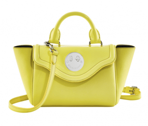 Hill and Friends Yellow Happy Mini Satchel Bag