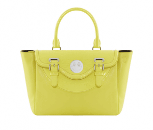 Hill and Friends Yellow Happy Satchel Bag