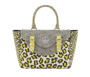 Hill and Friends Yellow/Black Leopard Happy Satchel Bag