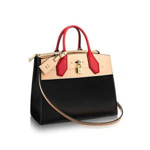 Louis Vuitton Beige City Steamer MM Bag