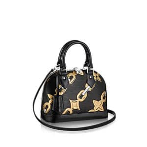 Louis Vuitton Black Chain Flower Alma BB Bag