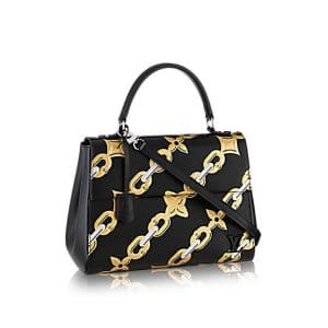 Louis Vuitton Black Chain Flower Epi Cluny MM Bag