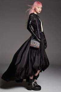 Louis Vuitton Black Studded Twist Bag