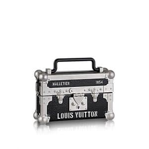 Louis Vuitton Black/Silver Petite Malle DJ Box Bag
