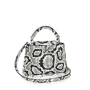 Louis Vuitton Black/White Python Capucines BB Bag