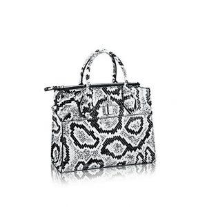 Louis Vuitton Black/White Python City Steamer PM Bag