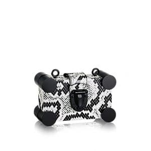Louis Vuitton Black/White Python Nano Malle Bag