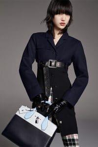 Louis Vuitton Black/White/Light Blue City Steamer Bag