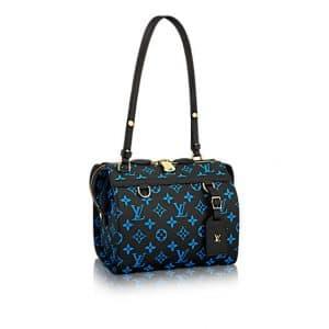 Louis Vuitton Bleu/Noir Monogram Canvas Speedy Amazon PM Bag