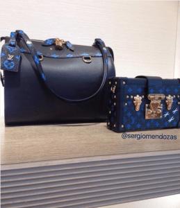 Louis Vuitton Bleu/Noir Speedy Amazon MM and Petite Malle Bags