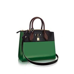 Louis Vuitton Noir Vert Acide City Steamer PM Bag