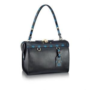 Louis Vuitton Noir with Noir and Bleu Monogram Trim Speedy Amazon MM Bag