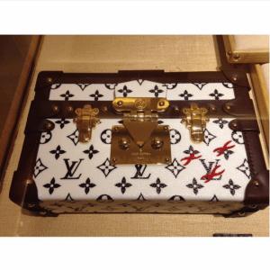 Louis Vuitton Noir/Blanc Petite Malle Bag