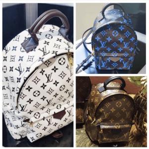 Louis Vuitton Noir/Blanc and Noir/Bleu Monogram Canvas Backpack Bags