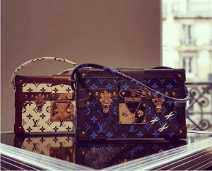 Louis Vuitton Noir/Blanc and Noir/Bleu Monogram Canvas Petite Malle Bags