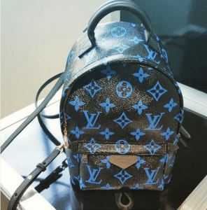 Louis Vuitton Noir/Bleu Mini Backpack Bag