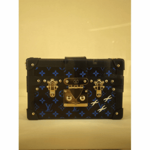 Louis Vuitton Noir/Bleu Monogram Canvas Petite Malle Bag