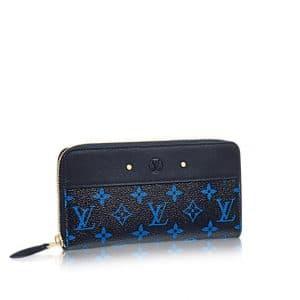 Louis Vuitton Noir/Blue Monogram Canvas Zippy Wallet